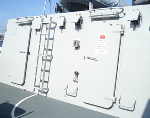 Navy Doors and hatches with EMV shield : ship doors - pezcame.com